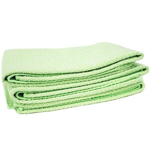 Zwipes Waffle Weave Microfiber Towel, 6-Pk, Green