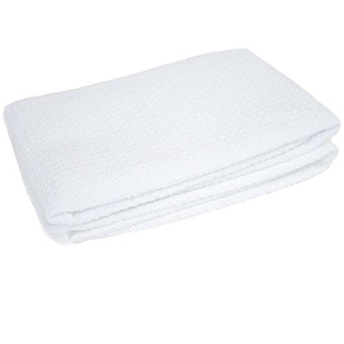 Zwipes Microfiber Waffle Weave Towel, 6-Pk, White