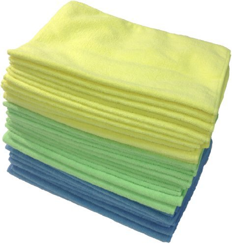 Zwipes Microfiber Cloths (36-Pack) Assorted Colors Pack of 36