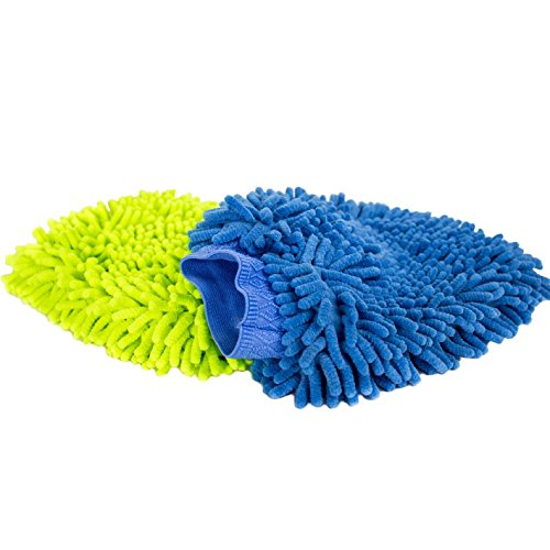 Zwipes Chenille Microfiber Premium Scratch-Free Car Wash Mitt, 2-Pack