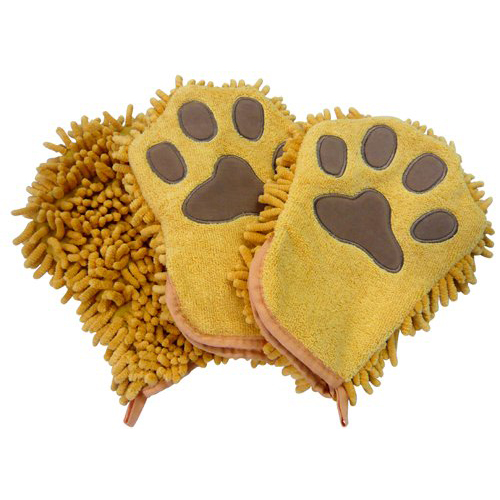 "Zwipes Microfiber ""Wash and Dry"" Pet Mitt - Pack of 3"