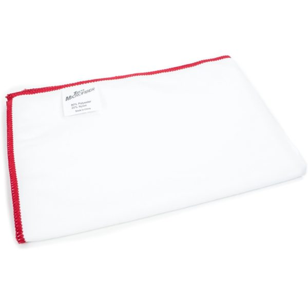 """Zwipes Microfiber Suede Large Polishing Bar Towel (Size: 27.5"""" x 20""""), White, Pack of 6"""