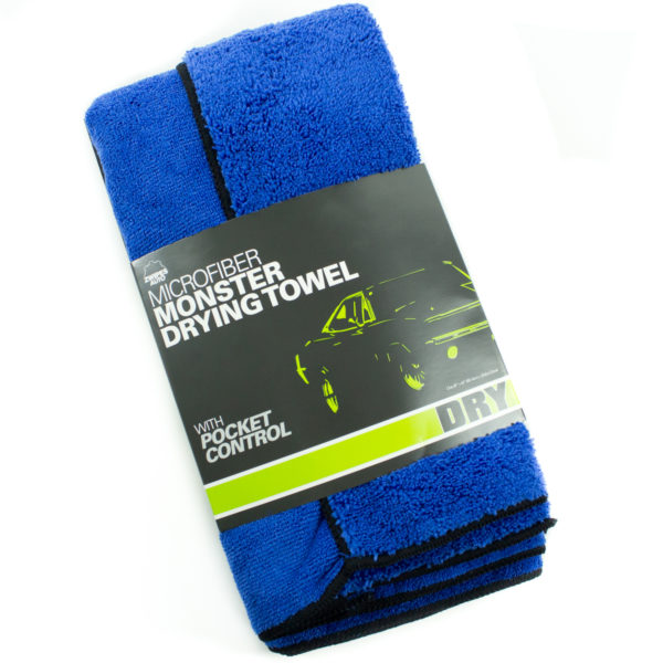 Largest Microfiber Towel: Large Premium Absorbent Microfiber Towel, Pocketed Plush