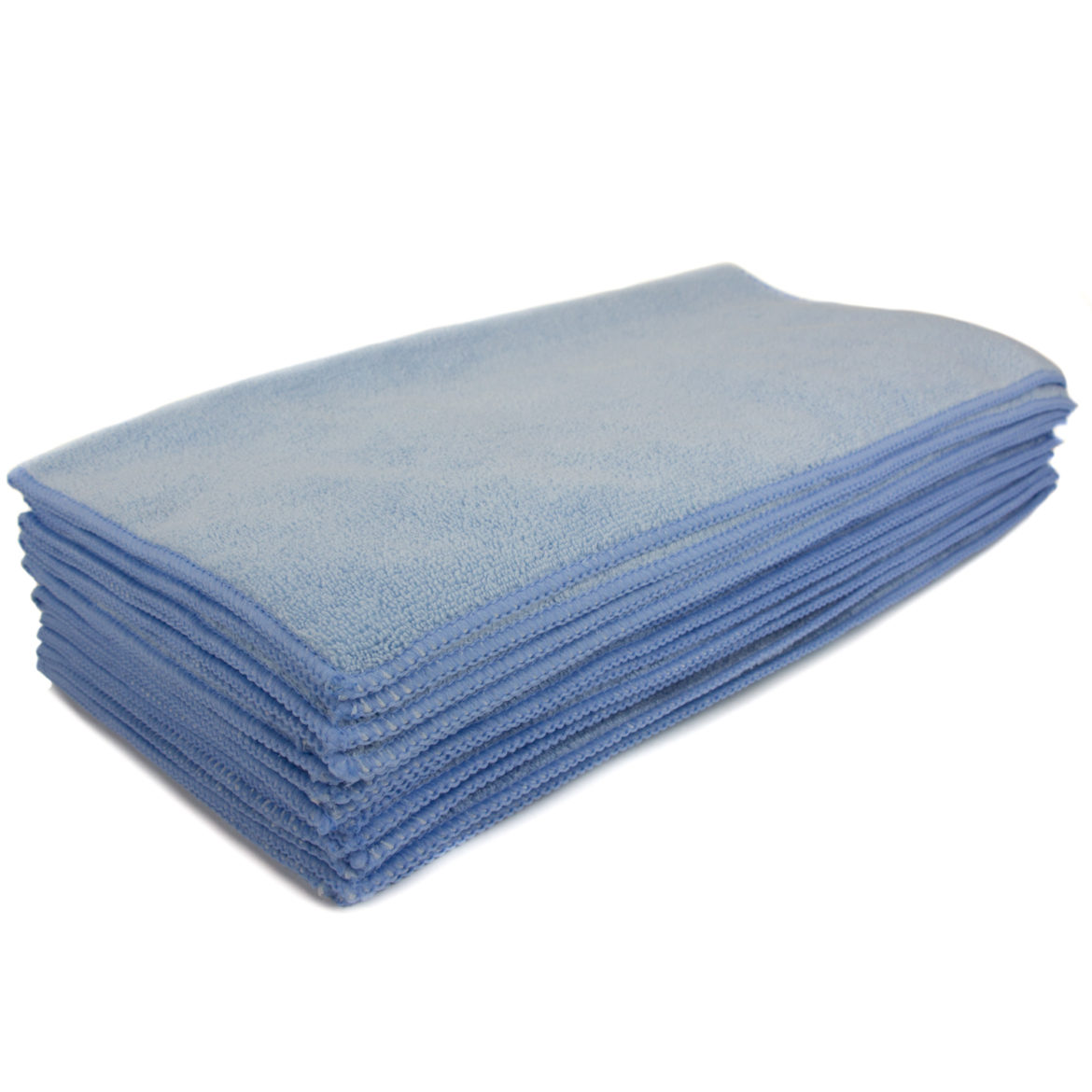 "Blue Microfiber Cleaning Towel 16 x 16"", Package Of 12"