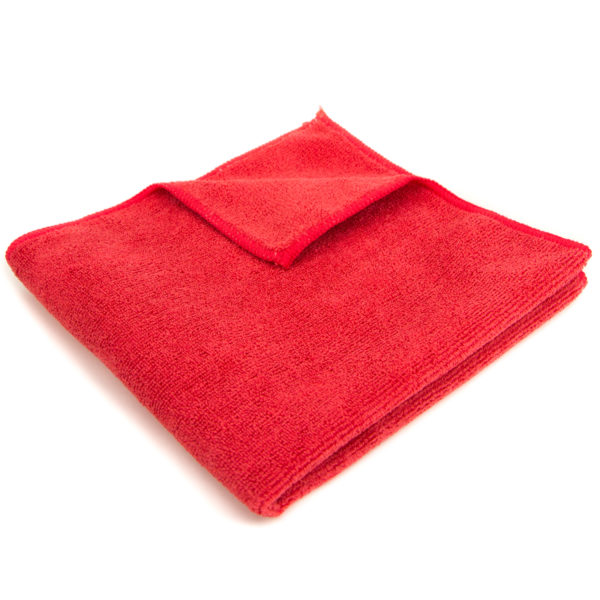 Red Microfiber Cleaning Towel 16 X 16 Quot Package Of 12