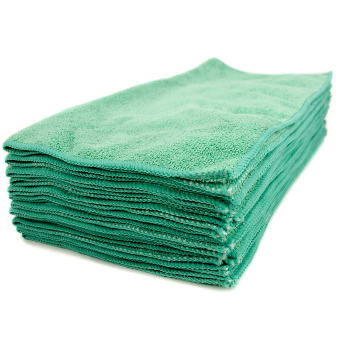 "Green Microfiber Cleaning Towel 16 x 16"", Package Of 12"