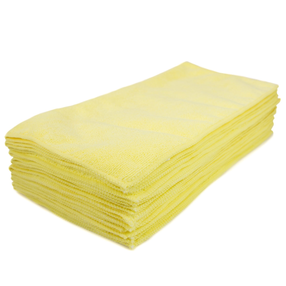 "Yellow Microfiber Cleaning Towel 16 x 16"", Package Of 12"