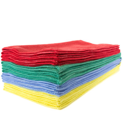 "Microfiber Cleaning Towel 16 x 16"", Assorted Colors, 12-Pack"