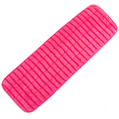 "Red Microfiber Wet Mop Scrubbing Pad 18"", 3-Pack"