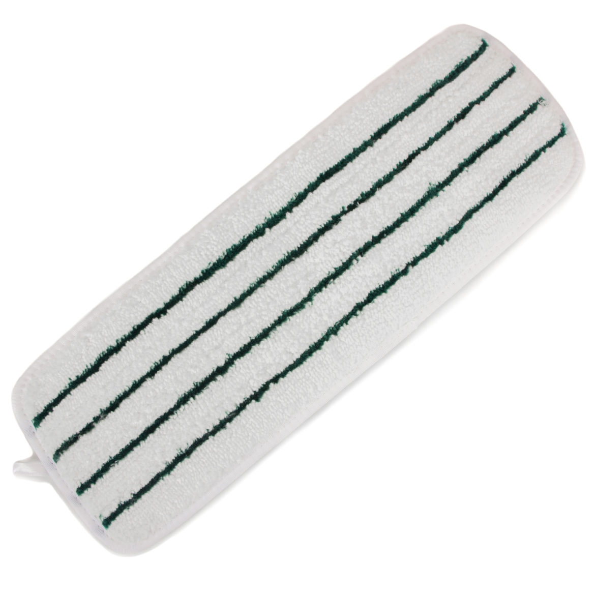 "White Striped 18"" Microfiber Wet Mop Pad, 3-Pack"